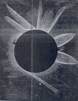 Drawing of the 1887 Eclipse