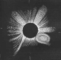 Drawing of the 1860 eclipse by G. Tempel