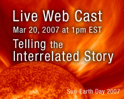 March 20, for a 2007 Living in the Atmosphere of the Sun, Telling the Interrelated Story