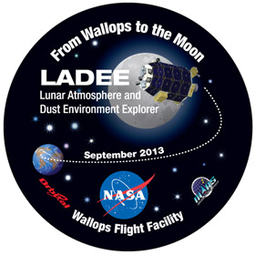 From Wallops to the Moon, LADEE logo